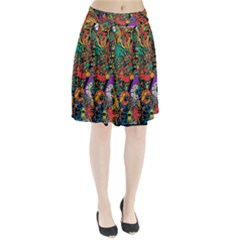 Monsters Colorful Doodle Pleated Skirt