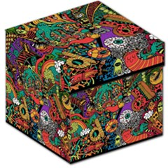 Monsters Colorful Doodle Storage Stool 12