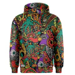 Monsters Colorful Doodle Men s Pullover Hoodie