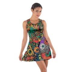 Monsters Colorful Doodle Cotton Racerback Dress