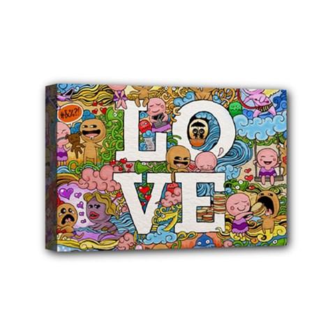 Doodle Art Love Doodles Mini Canvas 6  x 4