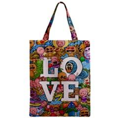 Doodle Art Love Doodles Zipper Classic Tote Bag