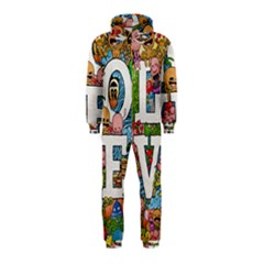 Doodle Art Love Doodles Hooded Jumpsuit (kids)