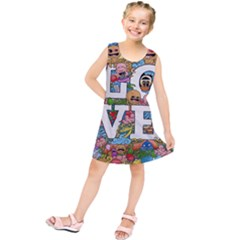 Doodle Art Love Doodles Kids  Tunic Dress