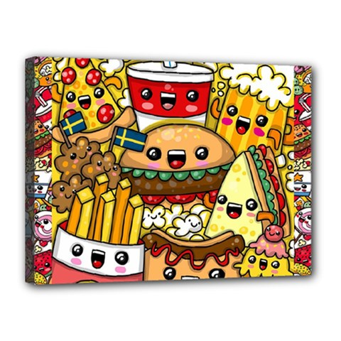 Cute Food Wallpaper Picture Canvas 16  x 12