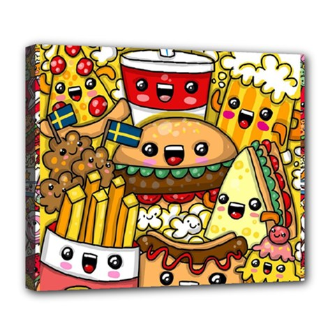 Cute Food Wallpaper Picture Deluxe Canvas 24  x 20