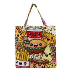 Cute Food Wallpaper Picture Grocery Tote Bag