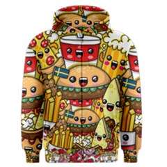 Cute Food Wallpaper Picture Men s Zipper Hoodie