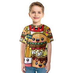 Cute Food Wallpaper Picture Kids  Sport Mesh Tee
