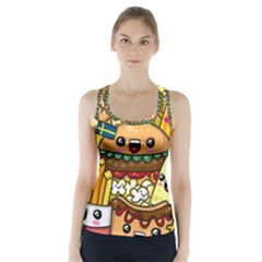 Cute Food Wallpaper Picture Racer Back Sports Top