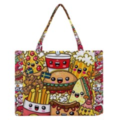 Cute Food Wallpaper Picture Medium Zipper Tote Bag