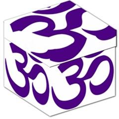 Hindu Om Symbol (purple) Storage Stool 12