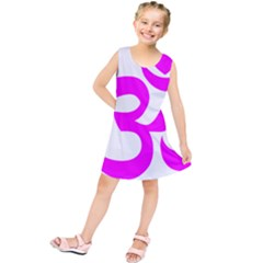 Hindu Om Symbol (magenta) Kids  Tunic Dress