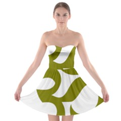 Hindu Om Symbol (Olive) Strapless Bra Top Dress