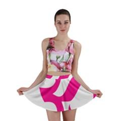 Hindu Om Symbol (Deep Pink) Mini Skirt