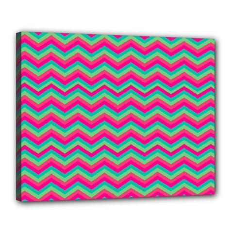Retro Pattern Zig Zag Canvas 20  x 16
