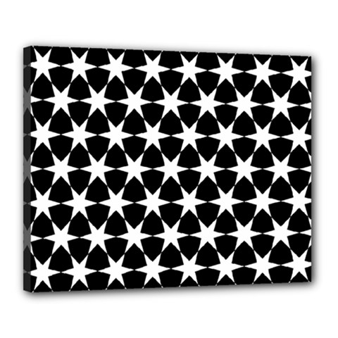 Star Egypt Pattern Canvas 20  X 16