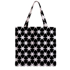 Star Egypt Pattern Zipper Grocery Tote Bag