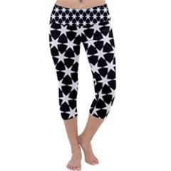 Star Egypt Pattern Capri Yoga Leggings