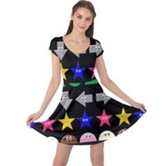 Cute Symbol Cap Sleeve Dresses