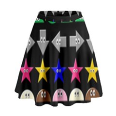 Cute Symbol High Waist Skirt