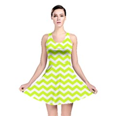 Chevron Background Patterns Reversible Skater Dress