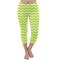 Chevron Background Patterns Capri Winter Leggings