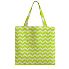 Chevron Background Patterns Zipper Grocery Tote Bag