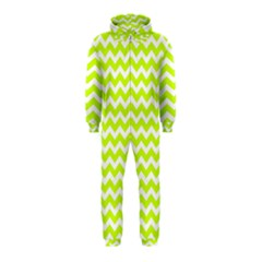 Chevron Background Patterns Hooded Jumpsuit (Kids)