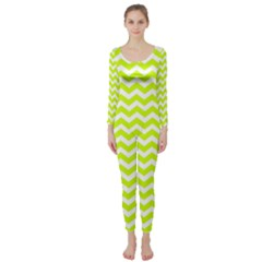 Chevron Background Patterns Long Sleeve Catsuit