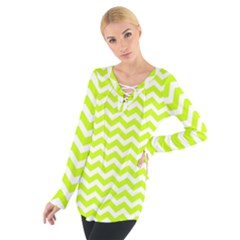 Chevron Background Patterns Women s Tie Up Tee