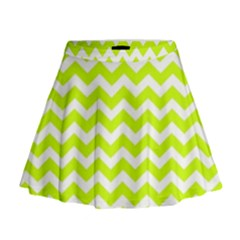 Chevron Background Patterns Mini Flare Skirt