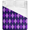 Static Argyle Pattern Blue Purple Duvet Cover (California King Size) View1