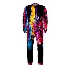 Abstract Patterns Lines Colors Flowers Floral Butterfly OnePiece Jumpsuit (Kids)