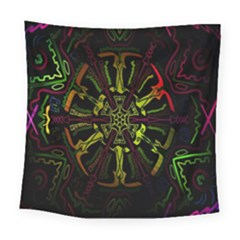 Inner Peace Star Space Rainbow Square Tapestry (large)