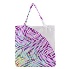 Japanese Name Circle Purple Yellow Green Red Blue Color Rainbow Grocery Tote Bag