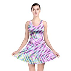 Japanese Name Circle Purple Yellow Green Red Blue Color Rainbow Reversible Skater Dress