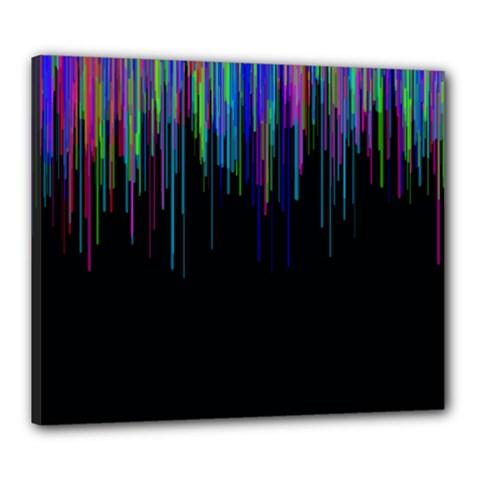Rain Color Paint Rainbow Canvas 24  x 20