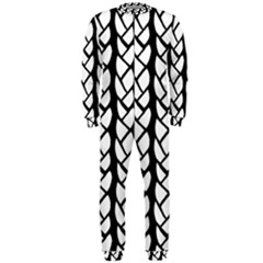 Ropes White Black Line Onepiece Jumpsuit (men)