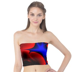 Space Red Blue Black Line Light Tube Top
