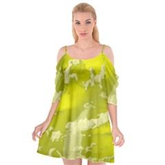 Sky Cutout Spaghetti Strap Chiffon Dress