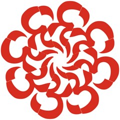 Hindu Om Symbol (Red) Folding Umbrellas