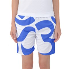 Hindu Om Symbol (royal Blue) Women s Basketball Shorts