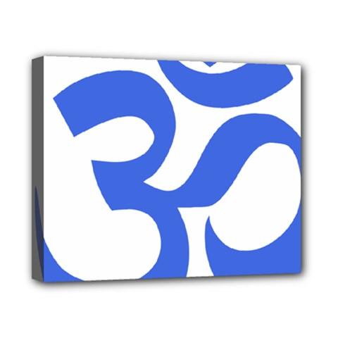 Hindu Om Symbol (Royal Blue) Canvas 10  x 8
