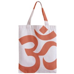 Hindu Om Symbol (Salmon) Zipper Classic Tote Bag