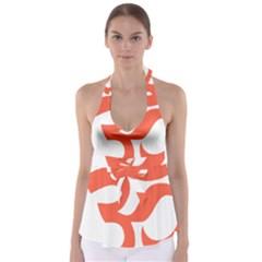 Hindu Om Symbol (peach) Babydoll Tankini Top
