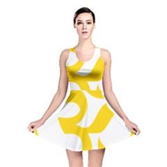 Hindu Om Symbol (yellow) Reversible Skater Dress