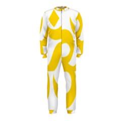 Hindu Om Symbol (Yellow) OnePiece Jumpsuit (Kids)