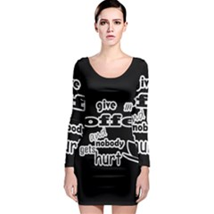 Give Me Coffee And Nobody Gets Hurt Long Sleeve Bodycon Dress