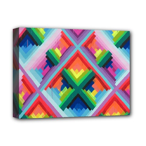 Rainbow Chem Trails Deluxe Canvas 16  x 12